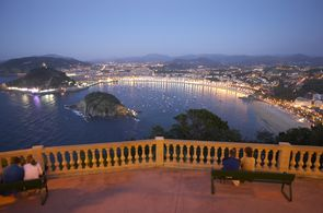 Der abendliche Blick auf San Sebastian ist traumhaft