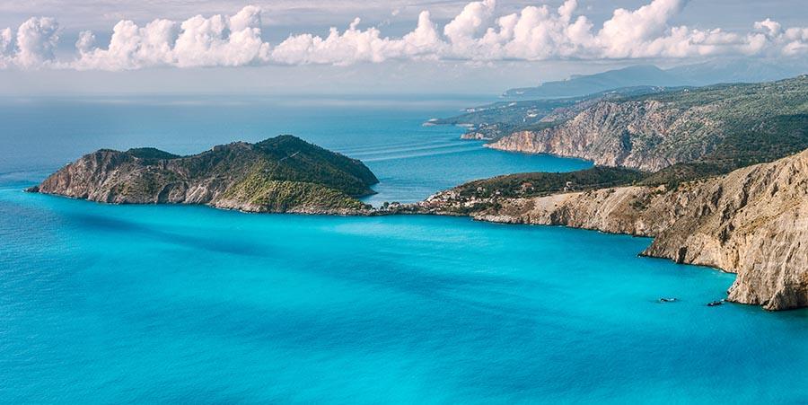 Blick auf das Meer in Kefalonia